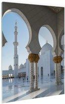 Sjeik Zayed-moskee Glas 60x90 cm - Foto print op Glas (Plexiglas wanddecoratie)