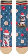 XPooos Socks, kerstsokken, Xmas Puppy Carol 70130, Maat 36/41