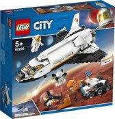 Afbeelding van LEGO City Ruimtevaart Mars Onderzoeksshuttle - 60226 speelgoed