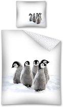 Dekbedovertrek Pinguins - 140x200 cm - Kussensloop 70x80 cm