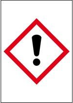 Sticker 'Giftige stoffen' GHS07, 10 op vel, gevarensymbool 26 x 37 mm