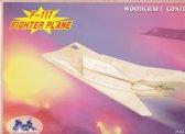 3D Puzzel Bouwpakket F117 Vliegtuig - hout