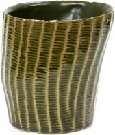 Serax NV - ribbelpot l 14x13,5 h13,5 - groen