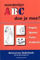 ABC - Doe je mee? 1.Engels, Spaans, Turks, Arabisch woordenlijsten