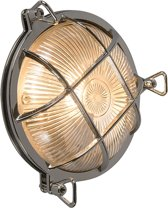 QAZQA Nautica - Plafondlamp en wandlamp - 1 lichts - D 100 mm - Chroom