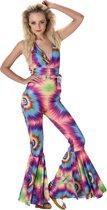 Sexy Hippie Tie Dye Jumpsuit Dames - Maat L