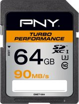 PNY Turbo Performance flashgeheugen 64 GB SDXC Klasse 10 UHS-I