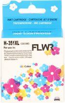 FLWR - Inktcartridge / 351XL Kleur - Geschikt voor HP