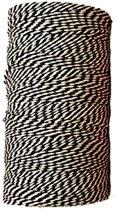 Baktouw, Slagerstouw, Decoratietouw (katoen, 500 gram, ca 400 meter, zwart/wit)