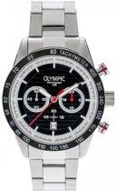 Olympic OL72HSS003 Running Horloge - Staal - Zilverkleurig - 44mm