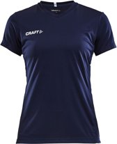 Craft Squad Jersey Solid SS Shirt Dames Sportshirt - Maat M  - Vrouwen - blauw/wit