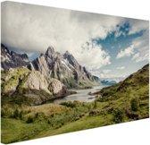 Berggebied Canvas 30x20 cm - Foto print op Canvas schilderij (Wanddecoratie)