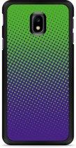 Galaxy J3 2017 Hardcase Hoesje lime paarse cirkels