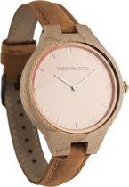 De officiële WoodWatch   Rose Ocean Amber   Houten horloge dames