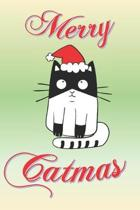 Merry Catmas: Fun Christmas notebook gift for Cat lovers and cat owners.