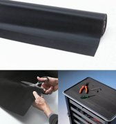 Rubber loper / Antislip / Rib n Roll fine rib 6 mm / 100 cm x 10 mtr / zwart