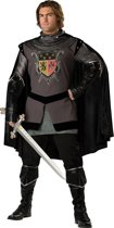 Zwarte ridder kostuum voor heren - Premium - Verkleedkleding - Medium