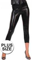 Grote maten capri legging zwart 46 (3XL)