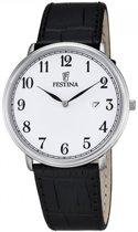 Festina F6839/1 Klassiek - Horloge- Staal - Zilverkleurig - 40.5 mm