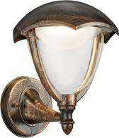 Trio Leuchten WL Cappe UP - Wandlamp - 1 lichts - D 200 mm - roestbruin