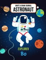 Write & Draw Journal Astronaut Explorer Bo