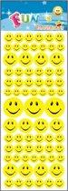 Stickervel emoticon smile face - 72 stickers