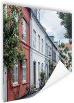 Straat Kopenhagen Poster 120x80 cm - Foto print op Poster (wanddecoratie woonkamer / slaapkamer) / Steden Poster