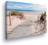 Beach Path Nature Sea Sand Canvas Print 100cm x 75cm