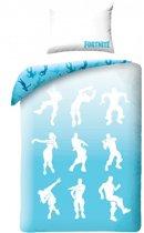 Fortnite Dance Dekbedovertrek - Eenpersoons - 140 x 200 cm - Blauw