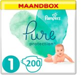 Pampers Pure Protection Maat 1- 200 Stuks Maandbox