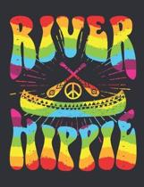 River Hippie: Hippie Notebook, Blank Paperback Composition Book, 150 pages, college ruled