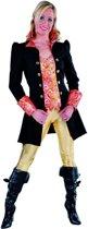 Musketier Kostuum | Zwarte Markiezin Madame Cheval Mantel En Vest Vrouw | Medium | Carnaval kostuum | Verkleedkleding