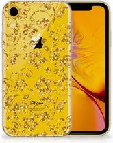 Hoesje iPhone Xr Design  Gouden Bloemen
