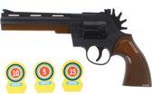 Toi-toys Cowboypistool Met Schietschijf Zwart/bruin 23 Cm