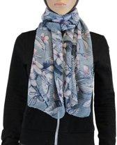Sjaal 100% Viscose Blauw Multi Color