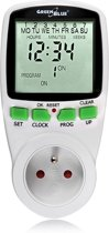 Timer - digitale tijdschakelklok GreenBlue GB105 Aardingspin + kinderbescherming  Belgische stekker met aarding  (niet voor NL)