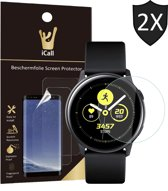 iCall - Samsung Galaxy Watch Active Screenprotector - Crystal Clear Screen Protector Volledig Beeld Full Screen Cover - 2 Stuks