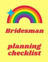 Bridesman Planning Checklist