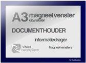 Magneetvenster A3 (uitwisbaar) - Blauw