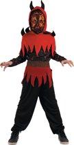 Vuurduivel kostuum voor jongens - Verkeedkleding - Maat 122/134