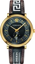 Versace V-Circle Greca Edition  - VEBQ01619 - Heren - Horloge - Bruin - 42 MM
