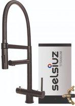 Selsiuz XL Gun Metal Zwart met TITANIUM Combi Extra (Combi+) boiler