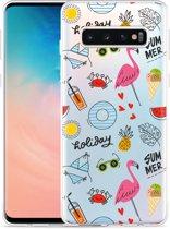Galaxy S10 Hoesje Summer Flamingo