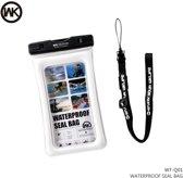 Waterdichte Telefoon Hoes / Waterproof Bag / Case / Pouch - Universeel - Geschikt voor Alle Smartphones - tot 6 Inch - functies onderwater beschikbaar - Volledig Transparant - iPhone / Samsung / Huawei - Wit
