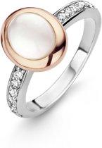 Ti Sento Milano 12004MW Ring - Ring met stenen - Zilver roségoudverguld