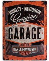 Harley-Davidson - Garage Metalen wandbord 20x30 cm