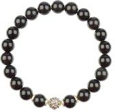 Om Mani Padme Hum Obsidiaan Armband | XXXL - 23 cm