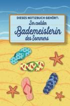 Dieses Notizbuch geh rt der coolsten Bademeisterin des Sommers