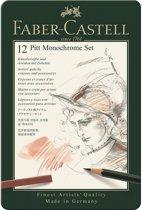 Faber Castell potlood Pitt Monochrome 12-delig etui