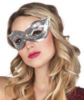 24 stuks: Masker Pailletten - zilver